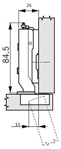 110/° ged/ämpft 2 Lineare Montageplatten und 4 Abdeckkappen Ausf/ührung: Eckanschlag Scharnieren Set bestehend aus: 2 x GRASS Tiomos M/öbel Topfband