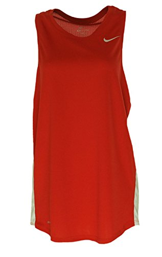 NIKE Women's Running Sleeveless Shirt Scarlet (Nike Womens Sleeveless Tee)
