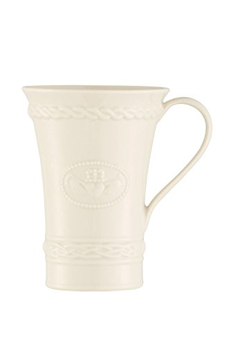 Belleek 4225 Claddagh Latte Mugs Pair, 15 fl. oz, Ivory
