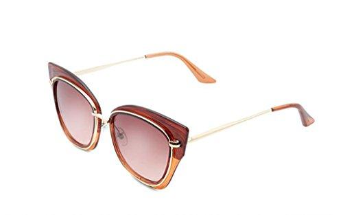 QQB de las 2 X486 gafas de ULTRAVIOLETA las gafas gafas protección sol Gafas de redondas 6 coreanas sol Color mujeres de la de de sol de la moda rpnrEYwq