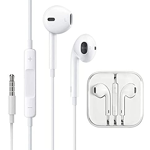 - 31glqxArwBL - 3.5mm Aux Headphones/Earphones/Earbuds Wired Headphones Noise Isolating Earphones with Built-in Microphone & Volume Control Compatible with Samsung/Huawei/Android/iPhone 6 SE 5S 4 iPod iPad