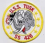 USS Tusk SS 426 - Elephant holding Sub - 3 (Tusk Apparel)
