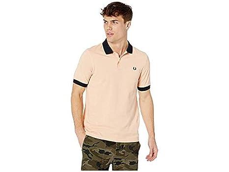 Fred Perry Colorblock Pique Camisa para Hombre - Naranja - X-Small ...
