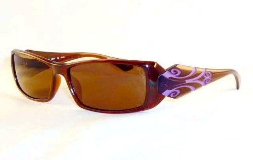 Koali 6539 GA176 Brown and Purple Plastic Women's Sunglasses; Brown Anti-Reflective - Sunglasses Koali