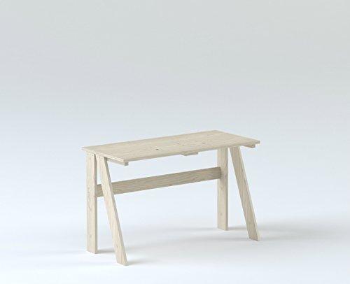 LUFE Mesa de Estudio (120_cm, Blanco nórdico): Amazon.es: Hogar