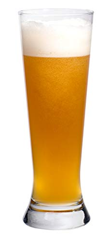 (Exclusive Craft Brew Wheat Beer Glasses, 20 Ounce - Set of 6)