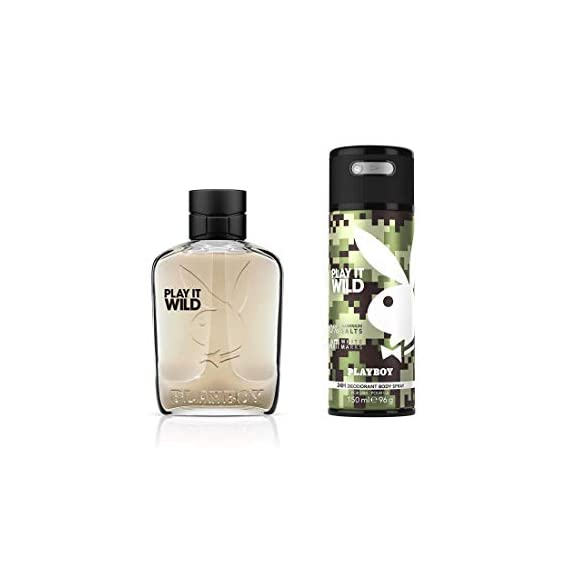 Playboy Wild For Men Gift Set (Edt100ml + Bs150ml), 250 ml