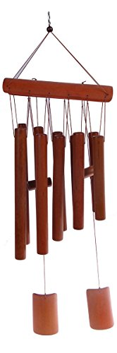 Bamboo Wind Chime - Large Brown Indoor Outdoor Wooden Melody Bamboo Wind - Bamboo Chimes Chime Wind