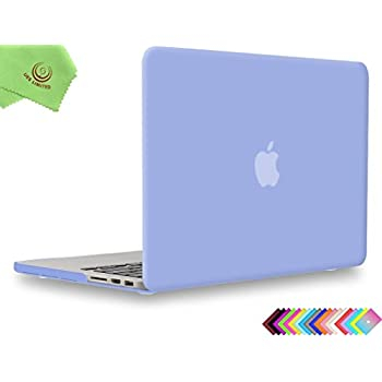 """UESWILL Smooth Soft-Touch Matte Hard Shell Case Cover for MacBook Pro 13"""" with Retina Display (Models: A1502/A1425) (NOT for 2016 Version) + Microfibre Cleaning Cloth, Serenity Blue"""