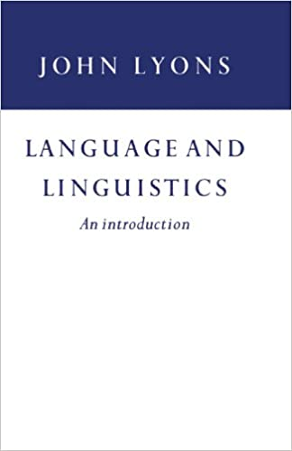 Amazon com: Language and Linguistics: An Introduction