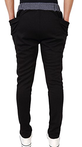 Men's Casual Pants Active Wear Joggers Novelty Stylish Big Pocket Light Weight Thin Fabric Slim Fit Open Bottom Sweatpants