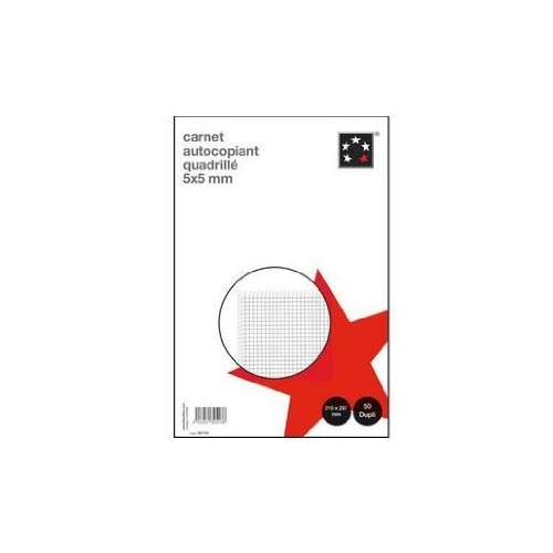 5 Etoiles etl-581750 581750 Self-Copying Squared Paper 210 x 297 mm White Pack of 5 by 5 Etoiles