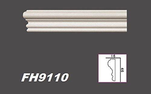 FH9110 2 Meter PU Flachprofil Leiste Wand Dekor Stuck sto/ßfest 46x16mm