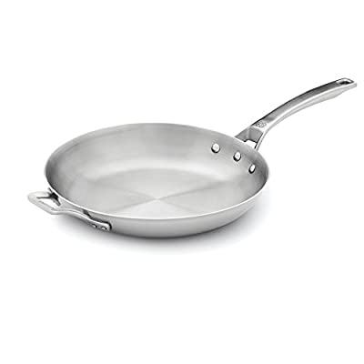 """Calphalon 1948233 Signature Stainless Steel Omelet Pan, 12"""", Silver"""