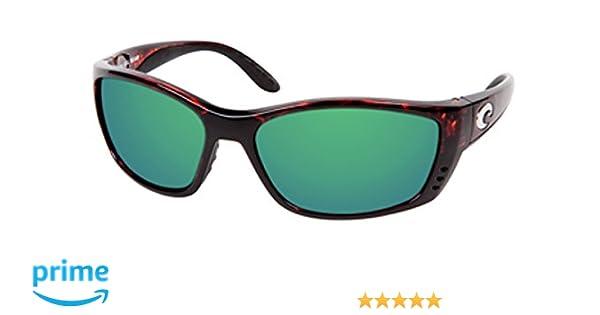92f1f4b654c3 Amazon.com  Costa Del Mar FISCH Sunglasses FS 10 OGMGLP Tortoise Green  Mirror 580 Glass  Clothing