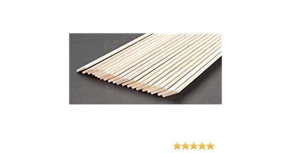 "Balsa Wood Strip Tracked 48 Post 5 pcs x 1//8/"" Thick x 1//8/"" Wide x 36/"" Long"