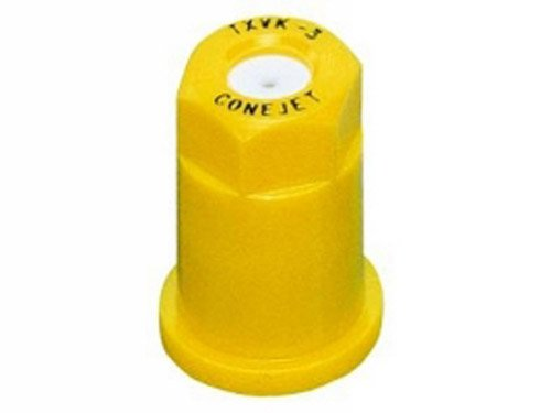 TeeJet TX-VK3 Hollow Cone Spray Tip, 0.10-0.16 GPM, 40-120 psi, Ceramic - Yellow (Spray Hollow)