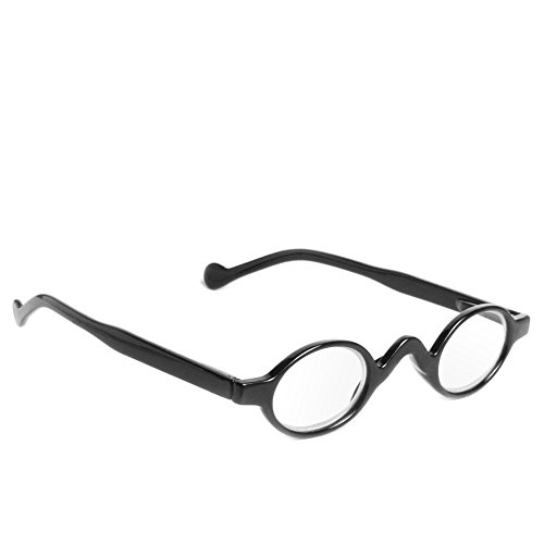 Retro Vintage Mini Small Round Frame Readers Men Womens Reading Glasses (BK - Older Glasses Men For