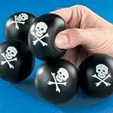 Mini Skull & Cross Bones Relaxable Balls (2 Dozen) - Bulk