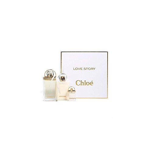 Chloe Love Story Eau de Parfum Spray Gift Set 2.5 EDP+3.4 BL+MINI