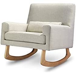 Nursery Works Sleepytime Rocker, Oatmeal Weave with Light Legs