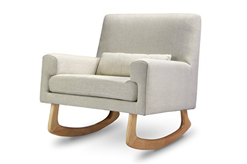 Nursery Works Sleepytime Rocker with Light Legs, Oatmeal Linen