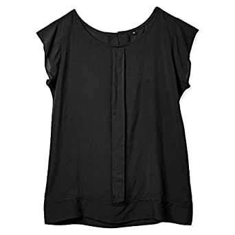 Veronica Black Round Neck Blouse For Women