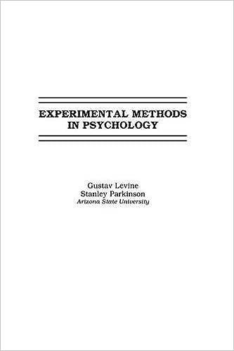 Book Experimental Methods in Psychology