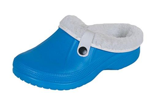 brandsseller - Zuecos de Material Sintético para mujer Azul - azul