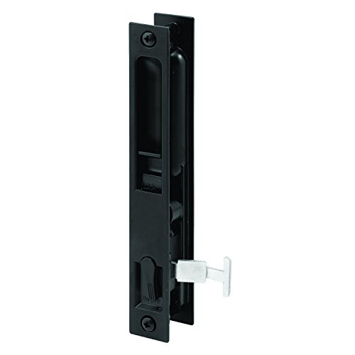 Prime-Line Products A 223 Patio Sliding Screen Door Latch & Pull, 6-5/8 in. Hole Centers, Diecast Construction, Painted Black, Flush Mount, Pack of 1 by Prime-Line