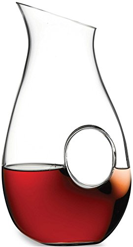 Circleware Mystic O Long Neck Glass Red White Wine Aerating Decanter Drink Carafe, 54 Ounce, ℂϊɾʗɭεωαɾε