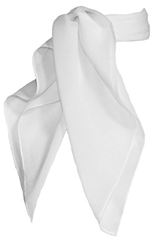 - Sheer Chiffon Scarf Vintage Style Accessory for Women and Children, White