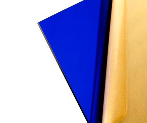 "Cast Acrylic Sheet - .118"" Thick, TP Dark Blue, 12"" x 12"" Nominal"