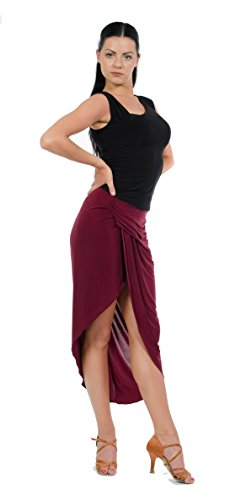 Miari Scarlett Draped Latin Rhythm Ballroom Dance Skirt