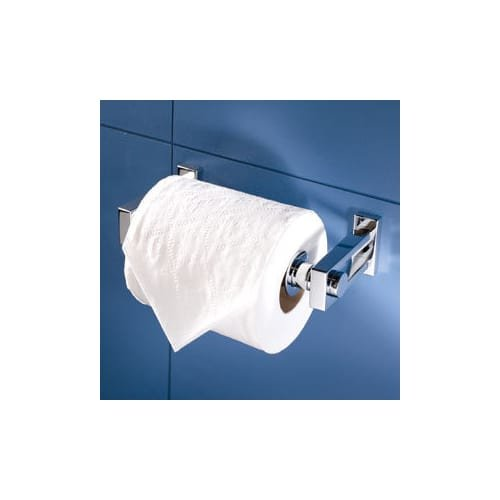 Ginger Bath Fixtures (Ginger 3008 Double Post Toilet Toilet Paper Holder from the Frame Collection, Satin Nickel)