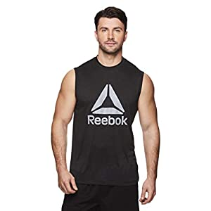 Reebok Men's Muscle Tank Top - Sleeveless Workout & Training Activewear Gym Shirt 22