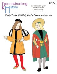 Early Tudor (1500-1520s) Man's Gown & Jerkin (Elizabethan Men's Clothing)