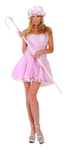 Little Bo Peep Satin Adult Costume Size 2-4 -