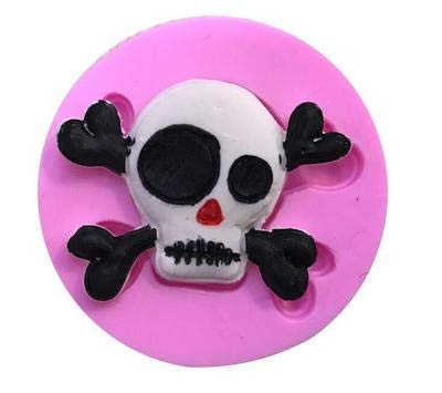 1 piece Halloween series skull silicone mold chocolate mould Skeleton Cake decoration - Oven Beehive Pizza