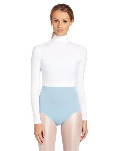 Capezio Women's Turtleneck Long Sleeve Top,White,Medium