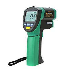 Jklnm Infrared Thermometer Digital Non-Contact IR Temperature (-32?to 1650?) with LCD Display Temperature Humidity Meter Alarm Function Instant Read for Kitchen Oven Industry Etc.