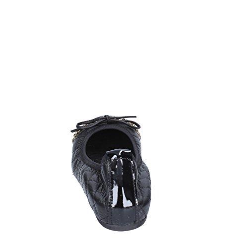 Femme Femme Crown Crown Ballerines Crown Cuir Ballerines Noir Noir Cuir U1PqI0
