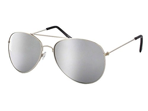 Retro Pilotenbrille Pornobrille Sonnenbrille silber Alsino 705