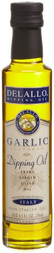 DeLallo Garlic Flavored Dipping Oil, 8.5-Ounce Bottles (Pack of 12) Delallo Olives