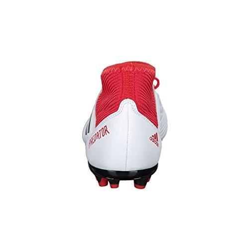 adidas Unisex-Kinder Predator 18.3 AG Fußballschuhe Weiß (Footwear White/Core Black/Real Coral)