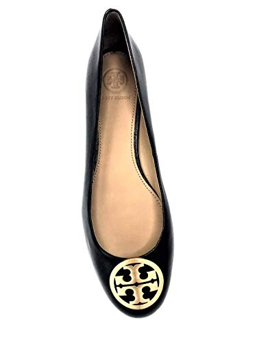 (Tory Burch Benton Leather Ballet Flat Perfect Black, Size 7.5)