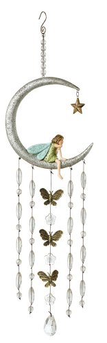 Grasslands Road Fairy in The Moon Wind Chime, 6-Inch ()