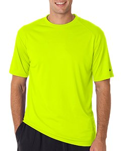 Badger Adult B-Core Short-Sleeve Performance Tee 2XL Safety Yelw/ Grn