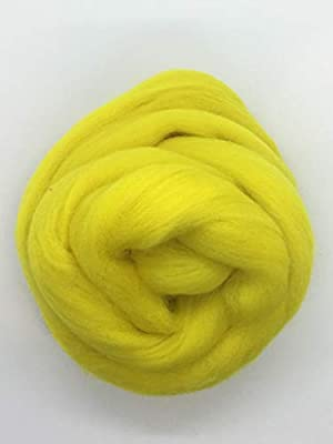 Aroma a limón amarillo lana top Roving Cable de Spinning, fieltro ...