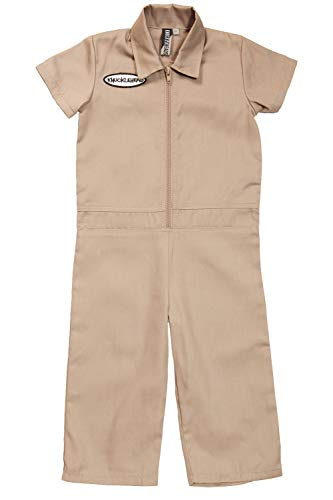 Born to Love Kids Coverall for Boys, Mechanic Halloween Jumpsuit Costume Baby Outfit (7t, Tan) ()